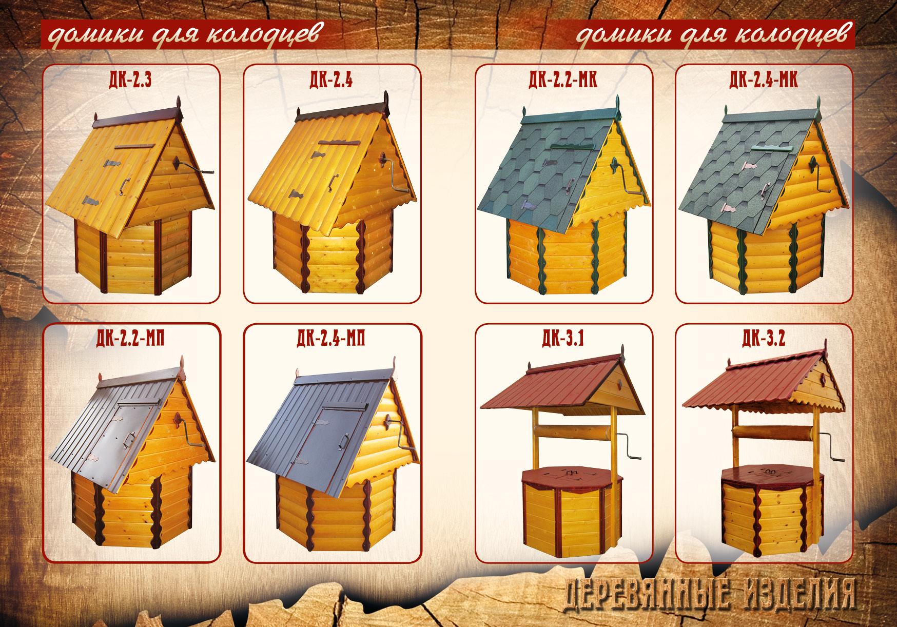 Чертеж домик на колодец
